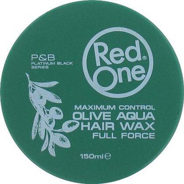 Red One - Olive Aqua Hair Wax Full Force Maximum Control - Cire coiffante forte tenue à l'Huile d'Olive 150ml