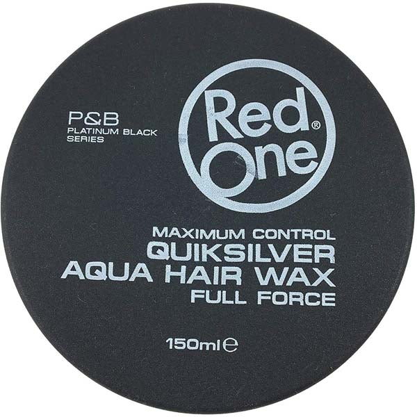 Red One Quicksilver Aqua Hair Wax Full Force - Cire coiffante forte tenue 150ml