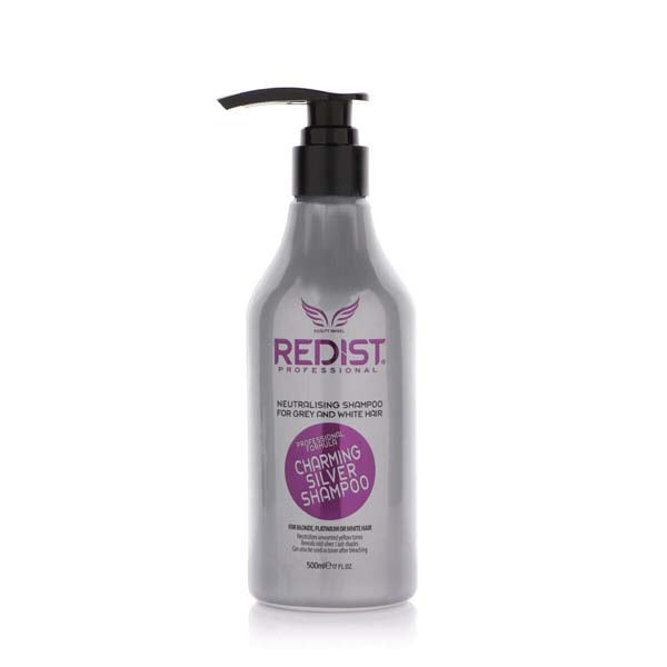Redist Professional Hair Care Shampoo Charming Silver Shampoo - Shampoing Neutralisant Cheveux Gris et Blanc Red One 500 ml