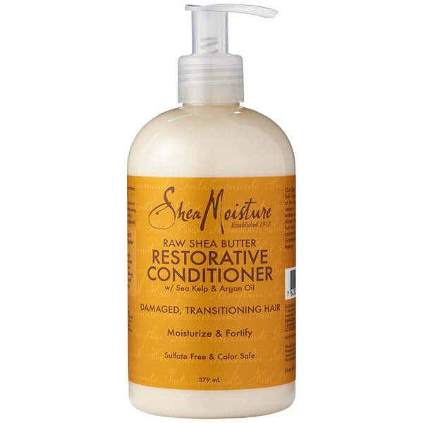 Shea Moisture Raw Shea Butter Restorative Conditioner 384ml - Après-Shampoing Revitalisant Karité