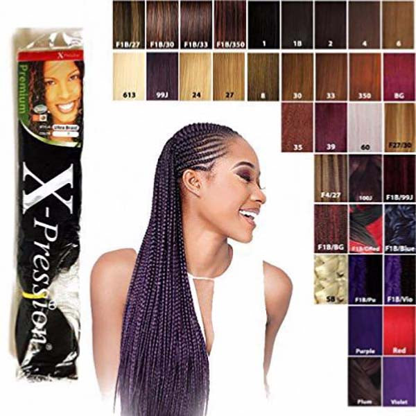 X-pression - Extensions cheveux synthétiques - 1B, 1, 2