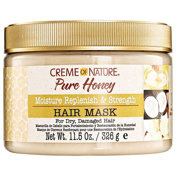 Creme Of Nature Pure Honey Moisturizing Replenish & Strength Hair Mask - Masque capillaire Au Miel 326 g