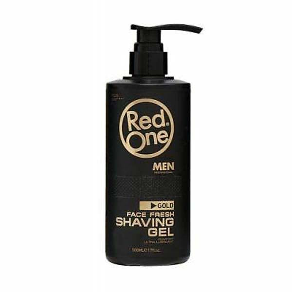 Red One Face  shaving gel Gold gel rasant rafraîchissant 500 ml