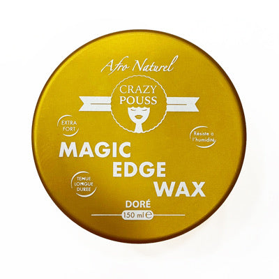 Afro naturel Crazy pouss - Magic Edge wax cire edge control Dorée Gold tenue longue durée 150 ml