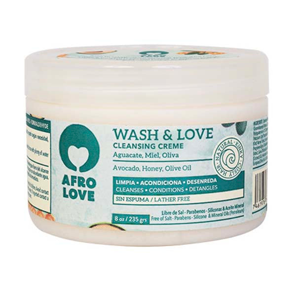 Wash & Love Co-wash enrichi à l'avocat, huile d'olive et miel - Afro Love 235g