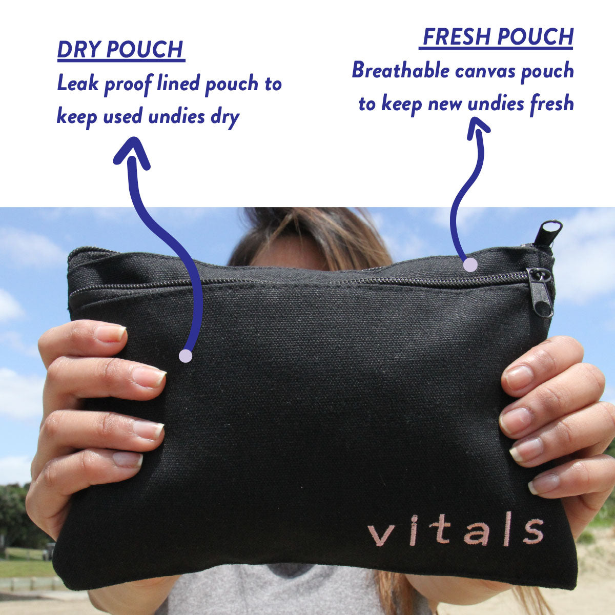 Fresh N Dry Bag - Vitals-Period-Undies-NZ