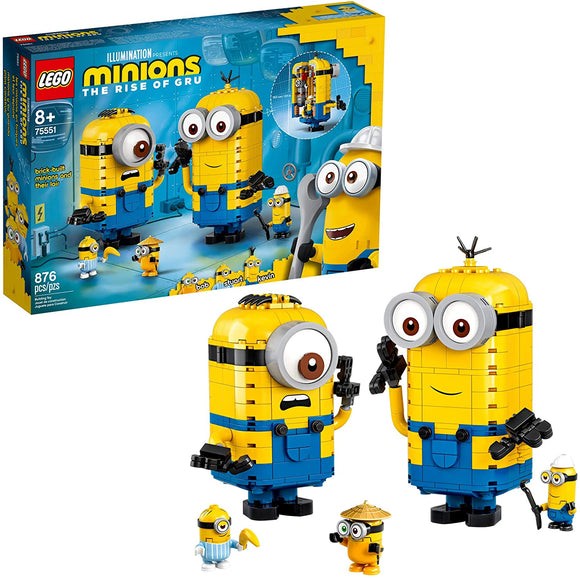 LEGO Minions 75551 Brick-Built Minions and Their Lair (876 Pieces) Building Kit New 2020