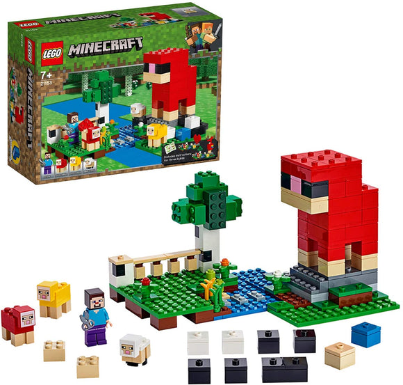 LEGO Minecraft 21153 The Wool Farm (260 Pieces) Building Kit