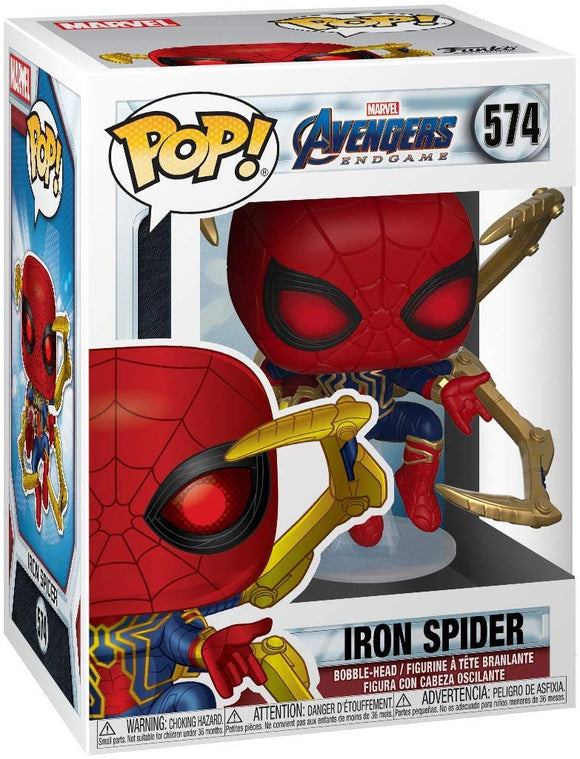Funko Pop! Marvel Avengers Endgame Iron Spider #574 with Nano Gauntlet Vinyl Figure 889698451383 B07TZMZK6J BrickPops