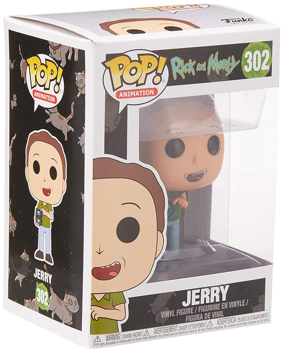 Funko Pop! Animation Rick and Morty Jerry #302 Collectible Vinyl Figure 889698229623 B0759HQHGD BrickPops