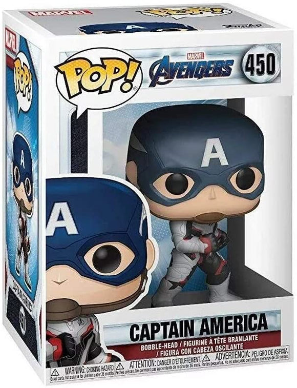 Funko Pop! Marvel Avengers Endgame Captain America #450 Multicolor Vinyl Figure 889698366618 B081VTKDM5 BrickPops