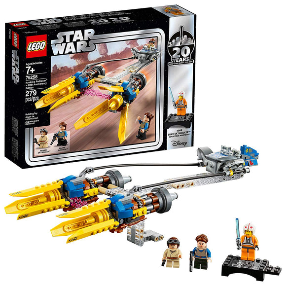 LEGO Star Wars 75258 Anakin's Podracer (279 Pieces) Building Kit 20th Anniversary Edition - Brick Pops