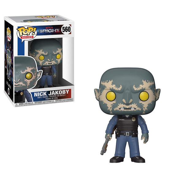 Funko Pop! Netflix Bright Nick Jakoby $560 with Gun Vinyl Figure 889698273817 B0777SNNT2 BrickPops