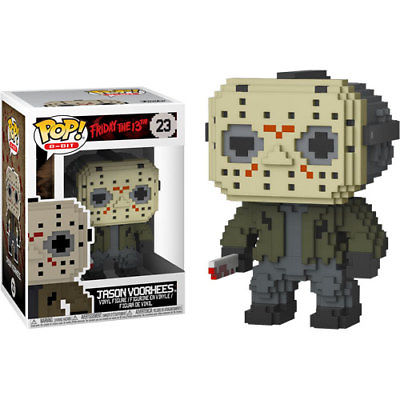 Funko Pop! 8 Bit Horror Jason Voorhees #23 Collectible Vinyl Figure 889698245968 B0763ZTC8L BrickPops