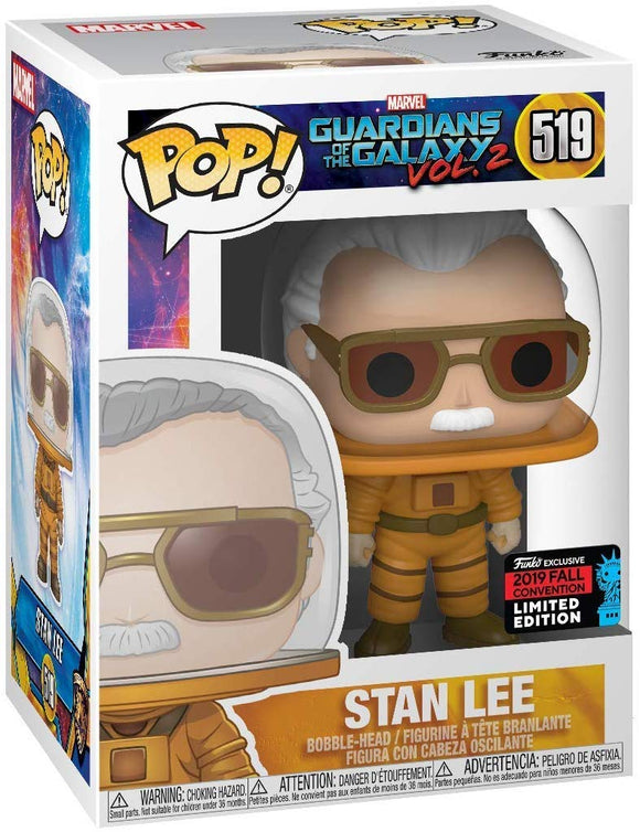 Funko Pop! Marvel Guardians of The Galaxy vol.2 Stan Lee #519 Convention Exclusive Vinyl Figure 889698434256 B07Z7T89TB BrickPops