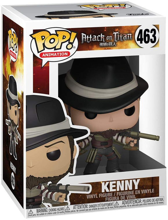 Funko Pop! Animation Attack on Titan Kenny #463 Multicolor Vinyl Figure 889698356756 B07HJDSG97 BrickPops