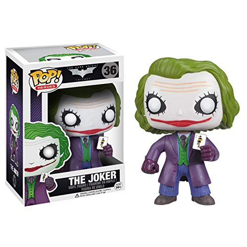 Funko Pop! DC Batman Dark Knight Movie The Joker #36 Vinyl Figure 830395033723 B00BUXK01K BrickPops