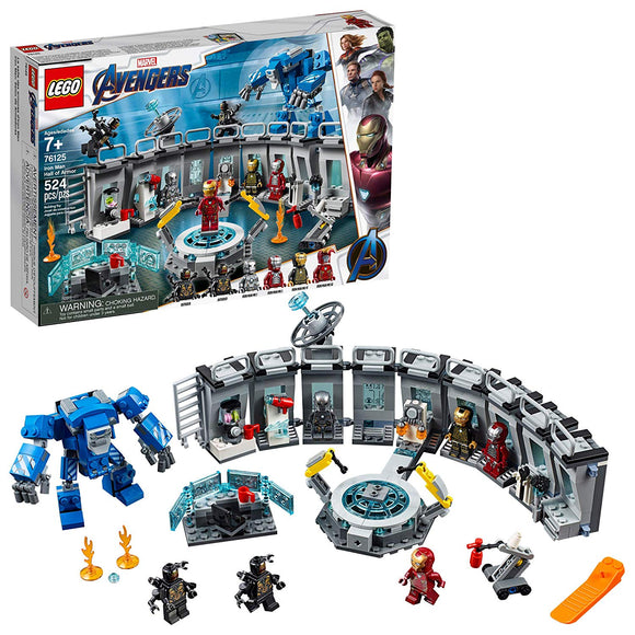 LEGO Marvel Avengers 76125 Iron Man Hall of Armor (524 Pieces) Building Kit - Brick Pops