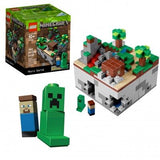 LEGO Minecraft 21102 Micro World (480 Pieces) Building Kit - Brick Pops