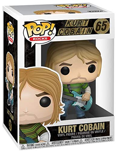 Funko Pop! Music Kurt Cobain #65 Teen Spirit Collectible Vinyl Figure 889698247771 B07591L1JT BrickPops