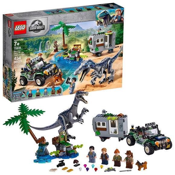 LEGO Jurassic World 75935 Baryonyx Face Off (434 Pieces) Building Kit - Brick Pops