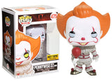 Funko Pop! Movies IT Pennywise with Balloon #475 Hot Topic Exclusive Vinyl Figure 889698218610 B075MHKWCM BrickPops