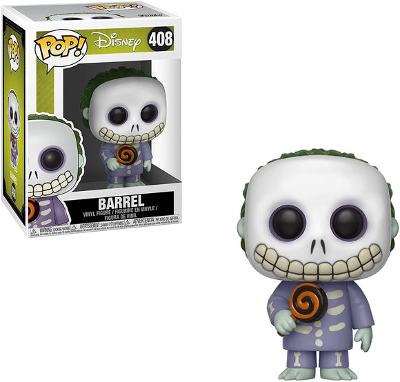 Funko Pop! Disney Nightmare Before Christmas Barrel #408 Multicolor Collectible Vinyl Figure 889698293853 B0797NWLPN BrickPops
