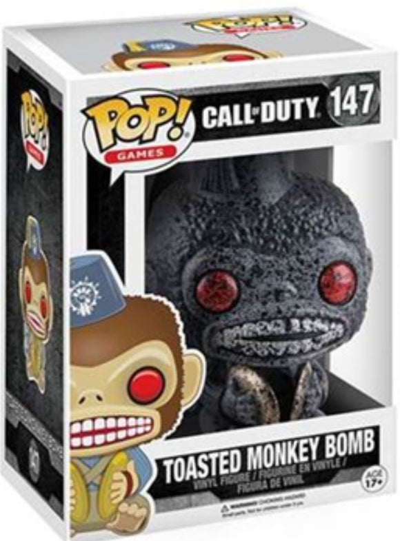 Funko Pop! Games Call of Duty Toasted Monkey Bomb #147 Exclusive Vinyl Figure 889698118729 B01MQNGGP6 BrickPops