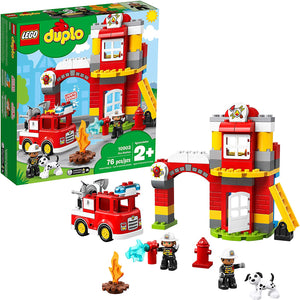 LEGO DUPLO 10903 Fire Station (76 Pieces) Building Blocks - Brick Pops