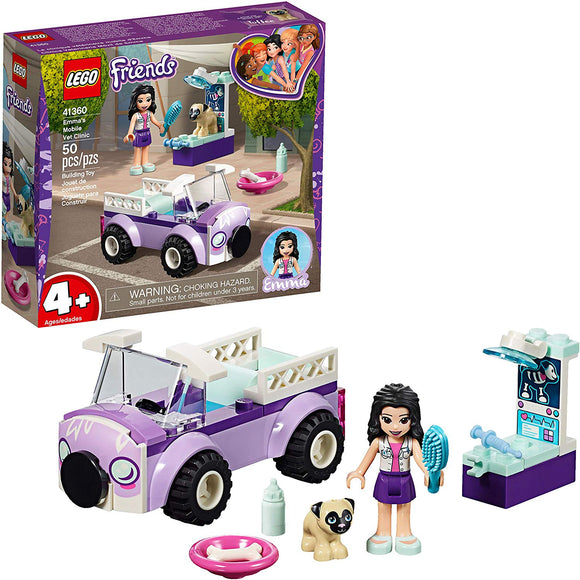 LEGO Friends 41360 Emma's Mobile Vet Clinic (50 Pieces) Building Kit - Brick Pops