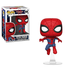 Funko Pop! Marvel Animated Spider-Man Movie Spider-Man #404 Multicolor Collectible Vinyl Figure 889698347556 B07DFB55DT BrickPops