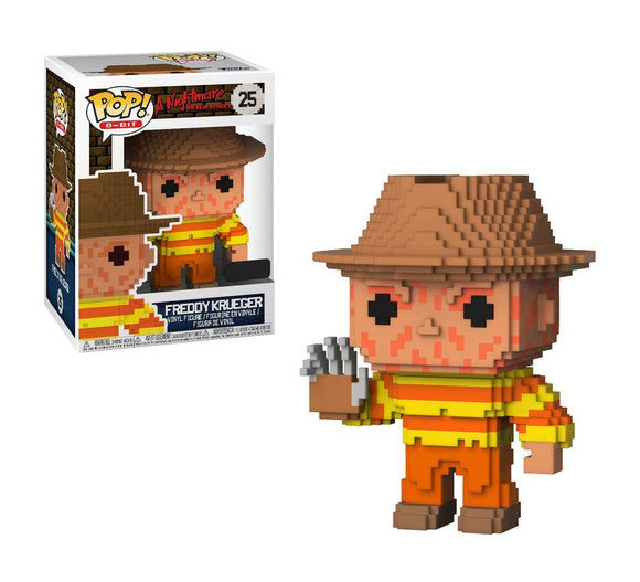 Funko Pop! 8 Bit Nightmare on Elm Street Freddy Krueger #25 NES Colors Exclusive Vinyl Figure 889698245456 B079G9T2SV BrickPops