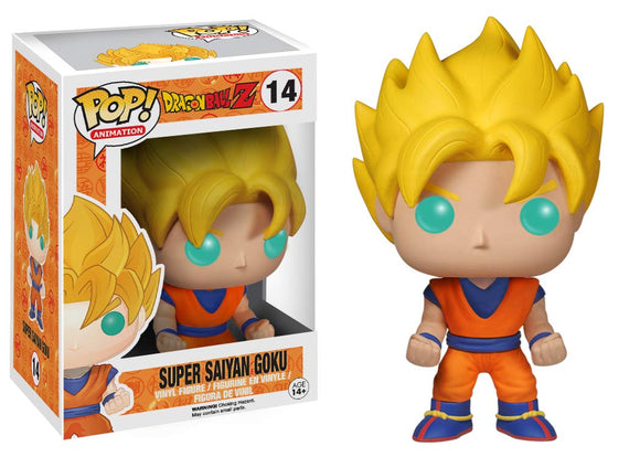 Funko Pop! Dragon Ball Z Super Saiyan Goku #14 Vinyl Figure 849803038076 B00KZFY4DO BrickPops