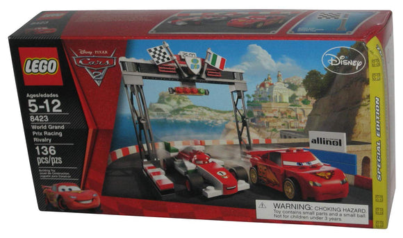 LEGO Disney Cars 8423 World Grand Prix Racing Rivalry (136 Pieces) Building Kit Exclusive Limited Edition - Brick Pops