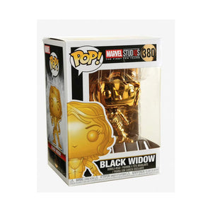 Funko Pop! Marvel Studios 10 Black Widow #380 Multicolor Gold Chrome Collectible Vinyl Figure 889698335164 B07DFRZKZS BrickPops