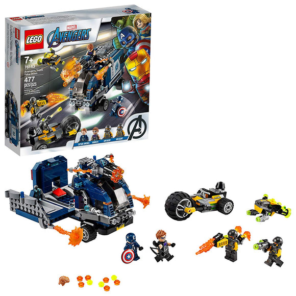 LEGO Marvel Avengers 76143 Avengers Truck (477 Pieces) Building Kit - Brick Pops