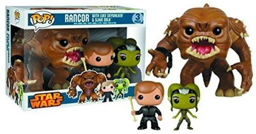 Pop! Star Wars Rancor with Luke & Slave Oola Vinyl Figure - Brick Pops