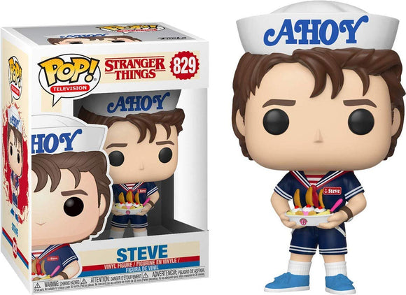 Funko Pop! Stranger Things Steve #829 with Hat and USS Butterscotch Exclusive Vinyl Figure{sku}{barcode}{shop-name}