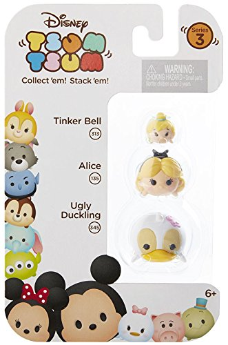 Disney Tsum Tsum Series 3 Tinker Bell, Alice, Ugly Duckling 3-Pack #313 #135 #345 039897015033 B01HH3X180 BrickPops