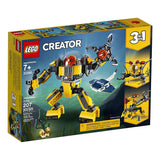 LEGO Creator 3in1 Underwater Robot 31090 Building Kit (207 Pieces){sku}{barcode}{shop-name}
