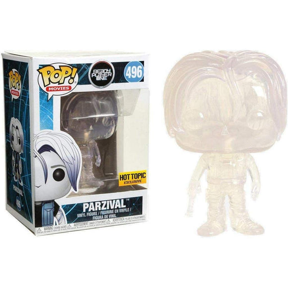 Funko Pop! Movies Ready Player One Parzival #496 Clear Hot Topic Exclusive Vinyl Figure 889698300162 B079YXW5PS BrickPops