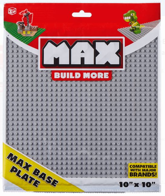 MAX Build Baseplate 10x10 Major Brick Brands Compatible