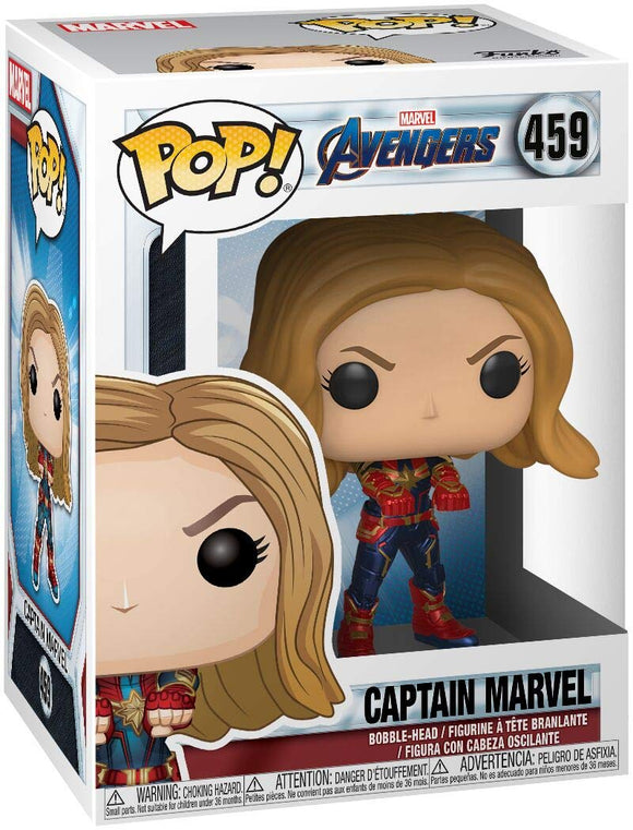 Funko Pop! Marvel Avengers Endgame Captain Marvel #459 Vinyl Figure 889698366755 B07KPSN8TZ BrickPops