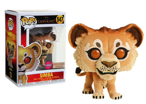 Funko Pop! Disney The Lion King 2019 Simba #547 Flocked BoxLunch Exclusive Vinyl Figure 889698397049 B07RNLWTLY BrickPops