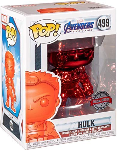 Funko Pop! Marvel Avengers Endgame Hulk  #499 Red Chrome Exclusive Vinyl Figure 889698413565 B07X1CKT29 BrickPops