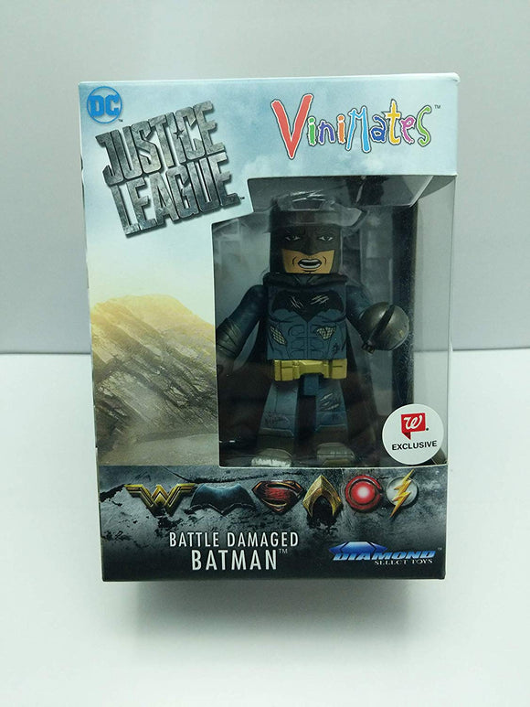 Vinimates DC Justice League Battle Damaged Batman Exclusive Vinyl Figure - Brick Pops