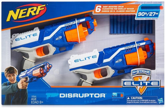 Nerf N-Strike Elite Disruptor 6 Dart Rapid Fire Nerf Gun Blaster (Twin Pack)