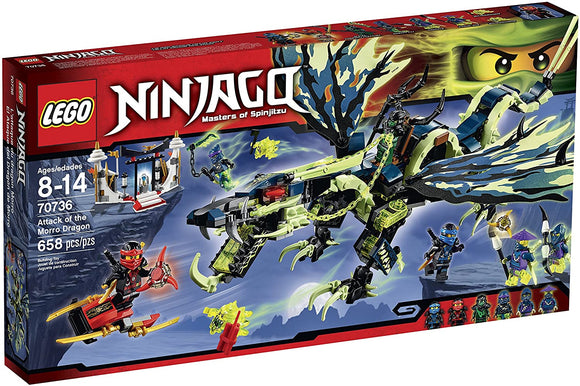 LEGO Ninjago 70736 Attack of The Morro Dragon (366 Pieces) Building Kit