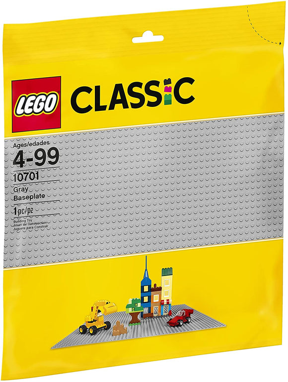 LEGO Classic Gray Baseplate 10701 (1 Piece) Building Kit