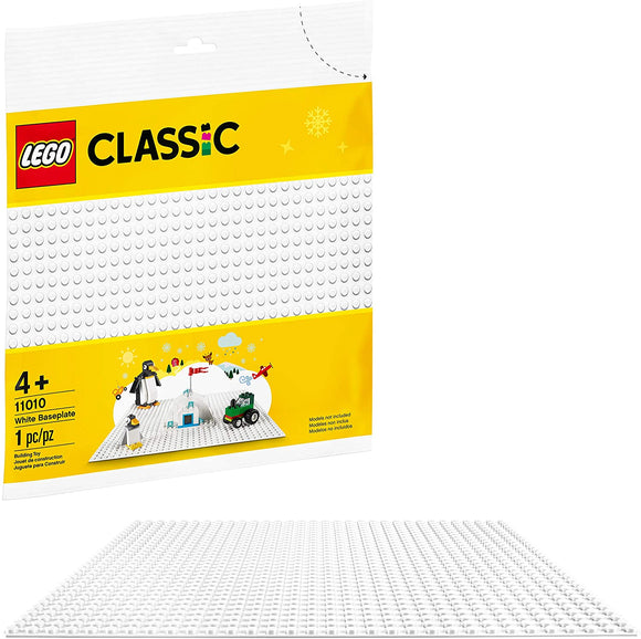 LEGO Classic 11010White Baseplate (1 Piece) Building Kit New 2020
